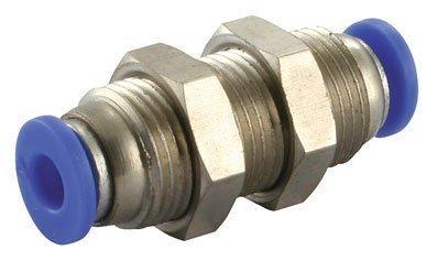 4mm to 4mm Bulkhead Push in Fitting (B130A) Pneumax