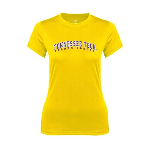 Tennessee Tech Ladies Syntrel Performance Gold Tee 'Arched Tennessee Tech Golden Eagles'