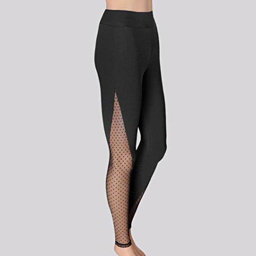 L 64 Fitness Noir de Sports Sports Yoga Mamum Faire noir Femmes Mode Pantalons des Fonctionnement leggings athltiques exercices Pantalon ZzawTx