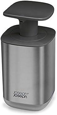 Joseph Joseph Presto - Dispensador de jabón higiénico fácil de Empujar con Bomba Ancha, Talla única, Acero Ino