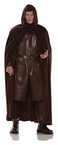 Deluxe Hooded Cape - Brown  One Size