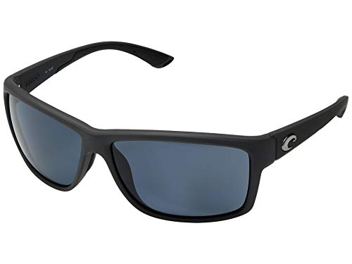 Costa Del Mar Mag Bay Sunglasses, Matte Gray, Gray 580P ()