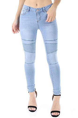 (Salt Tree Women's EnJean Washed Out Distressed Skinny Ankle Jeans - LightBlue,1)