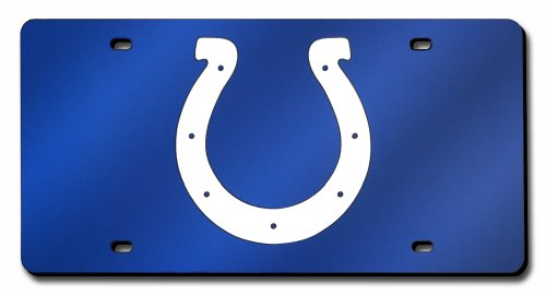 NFL Indianapolis Colts Laser Inlaid Metal License Plate ()