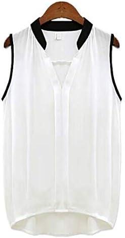 Top Mujer Verano Giwswfaf Mujer Chiffon Camisa sin mangas Blusa de tamaño grande camisa de mujer blusa blanca: Amazon.es: Instrumentos musicales