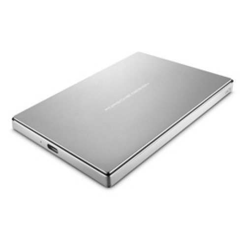 LaCie Porsche Design Mobile Drive 2 TB, externe tragbare Festplatte, 2.5 Zoll, USB 3.0, USB 3.1, USB-C, platin - STFD2000400