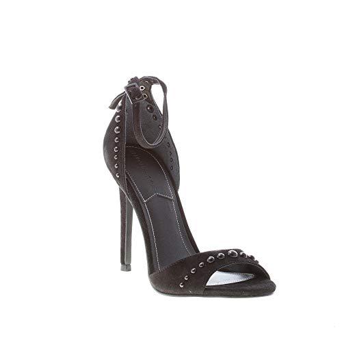 Camoscio Elissa Nero Cm Kendall 10 Sandalo Kyle In Tacco Borchiette Con qnwCAIxCP