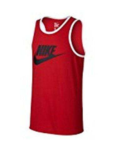 Nike Heren Ace Logo Tanktop Rood