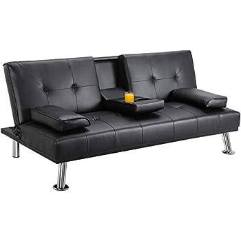 small gray leather sofa