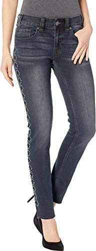 Rock and Roll Cowgirl Women's Mid-Rise Skinny Jeans in Grey Wash W1S8718 Grey Wash 31 ()