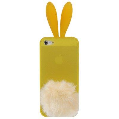 """iPhone 5 / 5S Hülle """"Bunny"""" mit Hasenohren in gelb inkl. Standfunktion! -Original nur von THESMARTGUARD-"""