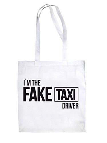 I´m the fake Taxi Driver Jutebeutel White
