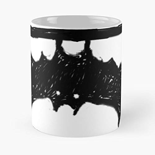 Bat Bats Scribble Halloween - Morning Coffee Mug Ceramic Novelty, Funny Gift -