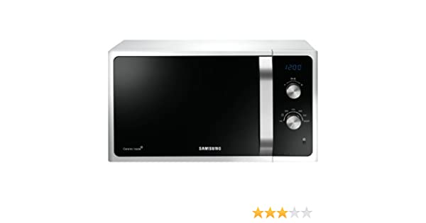 Samsung MG23F301TAS Encimera 23L 800W Plata - Microondas (Encimera, 23 L, 800 W, Giratorio, Plata, Electrónico)