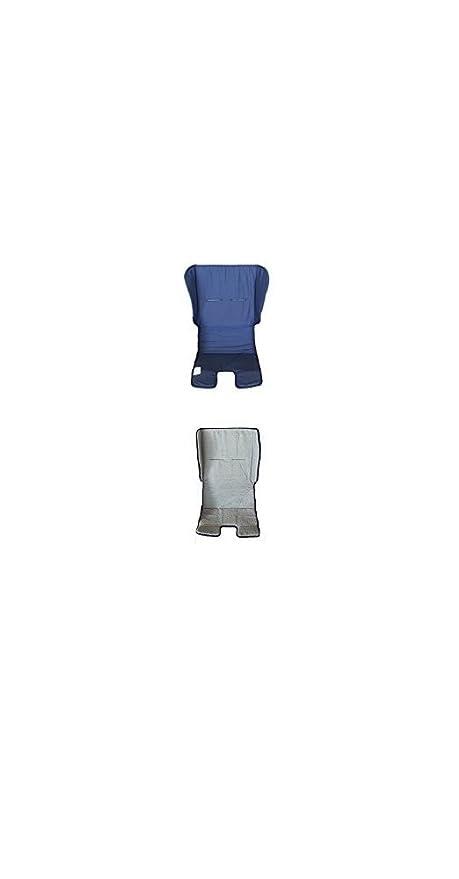 Colchón para cochecito Double Face Esponja Blanca – Azul