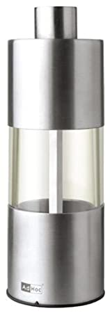 5.25 Inch Browne /& Co 78MP01 Adhoc Classic Stainless Steel and Acrylic Pepper Mill