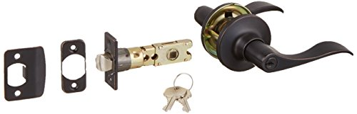 Design House 727982 Stratford 6-Way Universal Entry Door Lever, Oil Rubbed Bronze