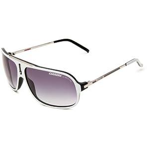 Carrera Cool/S Navigator Sunglasses,White, Black & Palladium Frame/Grey Gradient Lens,One Size
