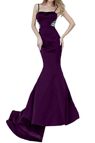 Damen Festkleider Ivydressing Lang Promkleid Spaghetti Traube Abendkleid Satin Mermaid H4qFfwA