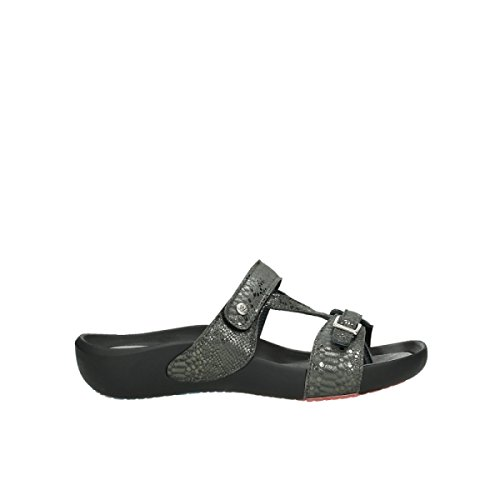 Resistenza Snakeprint Nthracite Wolky Cuoio Comfort 60210 Di HwWHqrfB