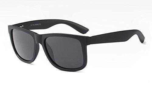 Gafas TL Mate UV400 black Negro polarizadas matte Sunglasses TR90 Sol Azul Hombres con Guía de naPnrwvES