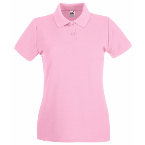 Fruit Of The Loom Lady-Fit Premium Polo Shirt S,Light Pink