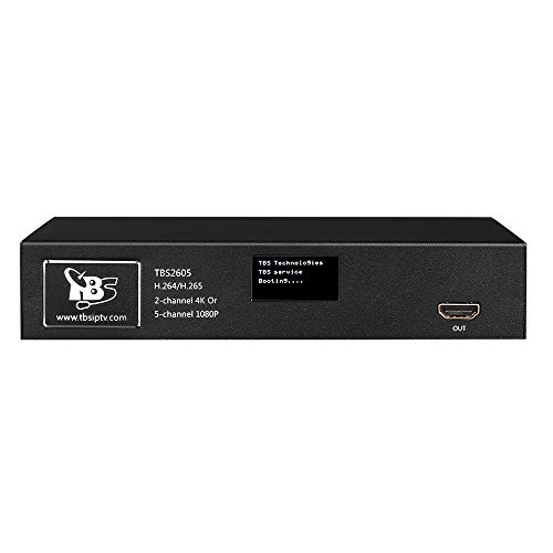 HD HDMI Encoder, TBS2605 2 Channels 4K / 5 Channels 1080P 60hz Video Encoder with RTSP RTP RTMP HTTP UDP Protocol Video Mix Function Multiplex and Split Screen Display
