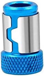 KUQIQI ドライバービットをピックアップユニバーサル磁化強い磁気リング1/4インチ6.35ミリメートル,安い (色 : Blue, サイズ : 24mm)