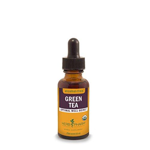 Herb Pharm Certified Organic Alcohol-Free Green Tea Glycerite - 1 (Alcohol Free 1 Oz Herbs)