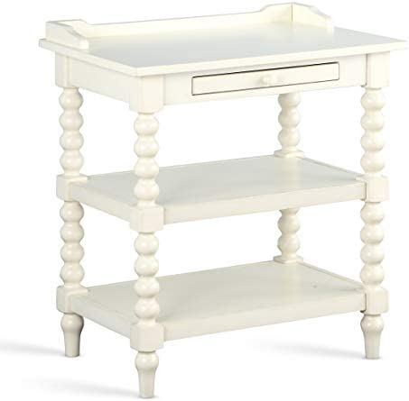 Source One Archer Antique White Nightstand