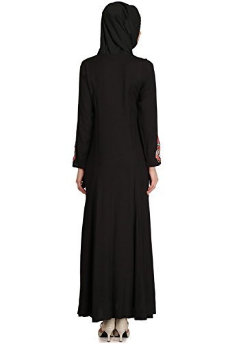 AY burqa MyBatua 537 eid frauen abaya party amp; schwarz kleid traditionelle embroiered tragen qwwPCUzp