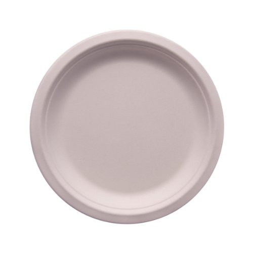 "eco Kloud 6"" inch Bagasse Sugarcane Fiber Plate (Pack of ..."