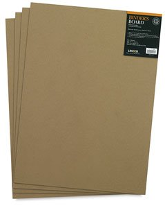 Lineco Acid-Free Book Binders Board, 70 Pt, 15 X 20.5 inches, Grey/Tan, Pack of 4 (473-4070)