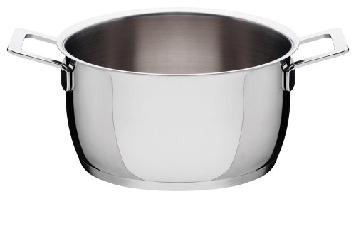 A Di Alessi,AJM101/20 ''POTS & PANS'', Casserole with two handles in 18/10 stainless steel mirror polished,3 qt 12  oz by Alessi