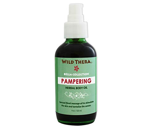 Sun Skin Soothers - Wild Thera Herbal Pampering Therapeutic Massage Oil. Anti-inflammatory, anti-wrinkle herbal body oil for dry, sun damaged, irritated & dry Skin. Skin soother/softener with antioxidant benefit.