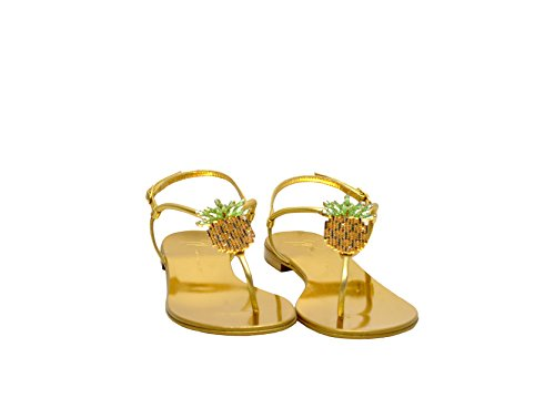 Leather ZANOTTI GIUSEPPE DESIGN Gold Women's E800120001 Sandals T1awq7aX
