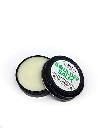Boulder Balm: Hard Lotion Skin Recovery Salve (Magic Wood Scent) 1oz by Orbital Climbing