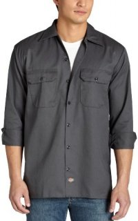 Custom Fit Match (Dickies Long Sleeve Work Shirt, Charcoal, XX-Large)
