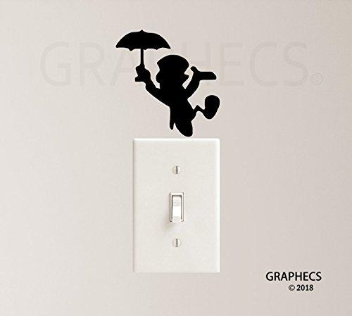 Jimmy Cricket Vinyl Decal Sticker Light Switch Kids Nursery