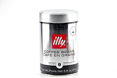 illy Dark Roast Whole Bean Coffee, 8.8 ounces