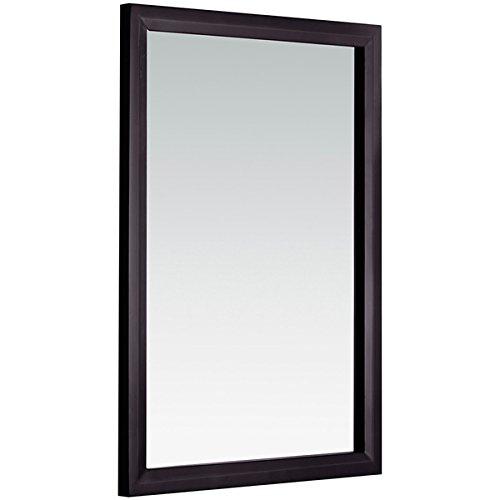 WYNDENHALL Oxford 22 x 30 Espresso Brown Vanity Decor Mirror