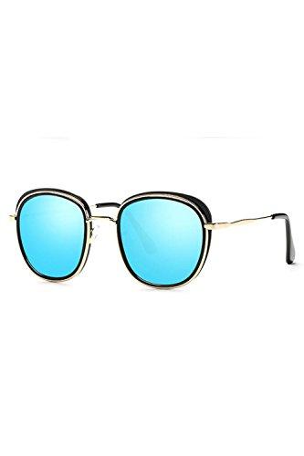 Protección De Sol Azul Gafas Tamaño Gafas Polarizadas Hombres UV Espejo Las De UV400 wvaT6q