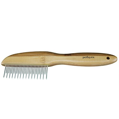 Petbyrn Dog Cat Comb - Grooming, Shedding Dematting Stainless Steel 31 Pin Comb. Remove Dirt, Mats Loose Hair Easily by Petbyrn