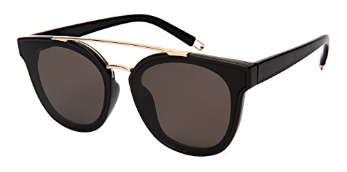 Edge-I-Wear Brow Bar Sunglasses with Flat Solid Lens - Sunglasses Bar