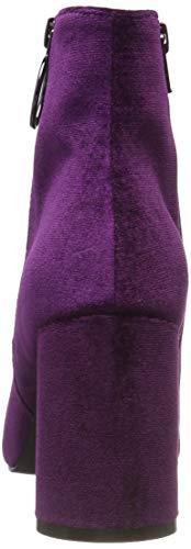 Bianco Viola Heel 524 Donna Boot Stivali purple Ankle Round qTqUwAF