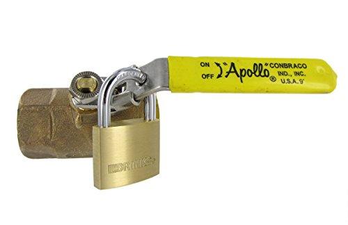 Locking Handle Brass Ball Valve Apollo 3/4-Inch