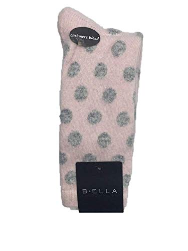B.ella Women's Bea Cashmere Blend Polka Dot Crew Socks,