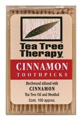 Price comparison product image Tea Tree Therapy Cinnamon Toothpicks (12x100 CT)