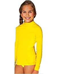 In Gear Girls Solid Long Sleeve Rash Guard Swim Shirt in Sizes 3T to 12