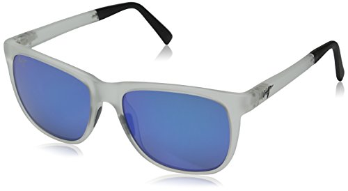 Maui Jim Tail Slide Sunglasses Frosted Crystal / Blue Hawaii